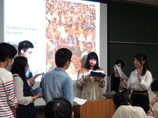 Tokyo University students learn about the Kibeho massacre in Rwanda (10/05/2017)