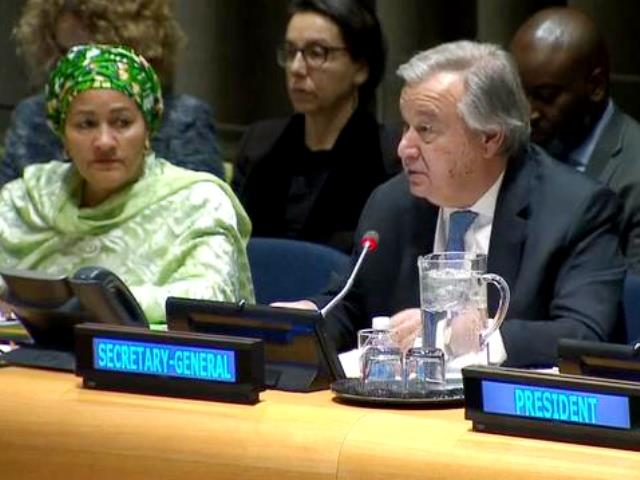 "Secretary-General Antonio Guterres introduced his report on ""Peacebuilding and Sustaining Peace"" (05/03/2018)"
