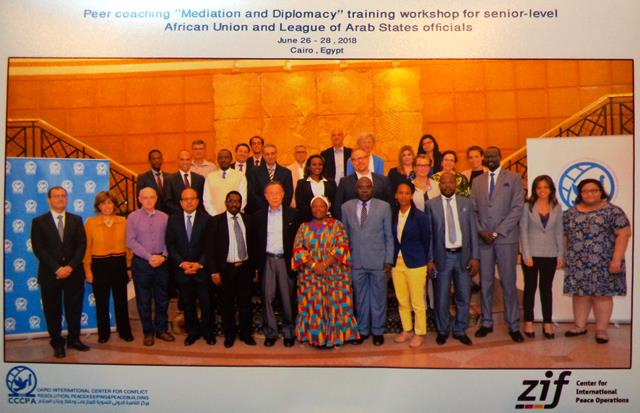 """German Center for International Peace Operations (ZIF) and CCCPA hold Peer Coaching """"Mediation and Diplomacy"""" Training Workshop. (26-28/06/2018)"""