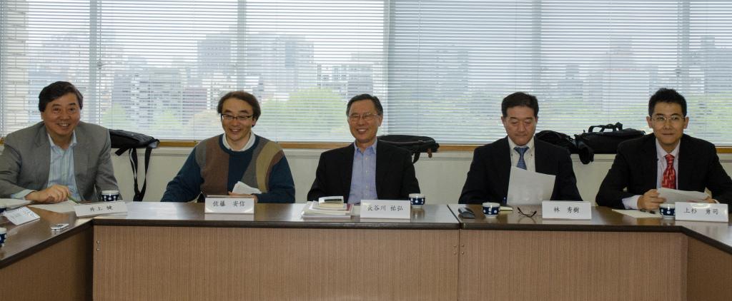 From  right to left, Yuji Uesugi, Hideki Hayashi, Sukehiro Hasegawa, Yasunobu Sato  and Ken Inoue