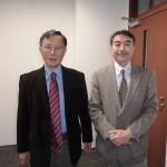 Professors Sukehiro HASEGAWA and Eiji OYAMADA