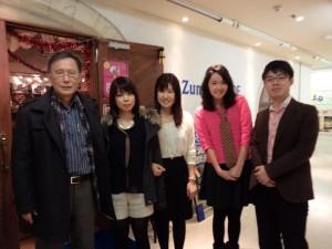 Professor Hasegawa and his seminar students