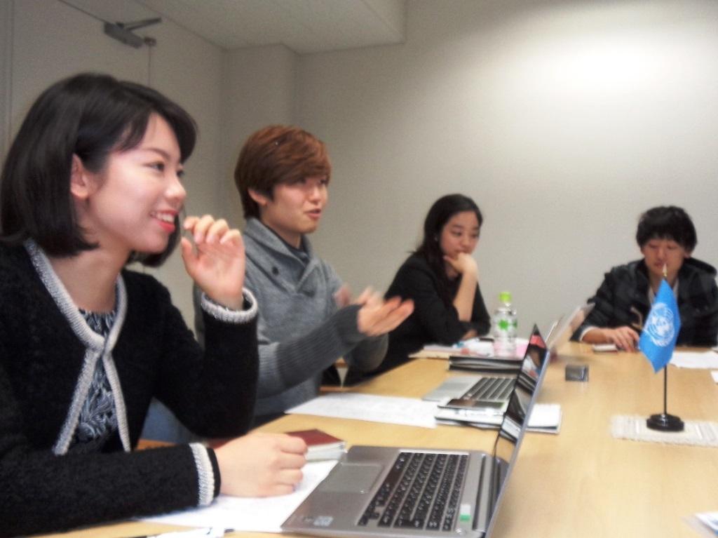 From left to right: Eriko Kawashima, Akihide Toda, Misato Nagakawa and Masakazu Nagamine