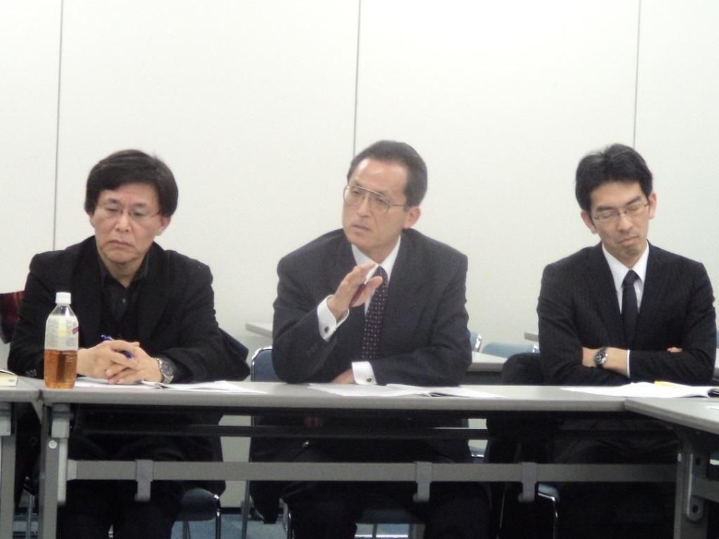 Professor Satoru KUROSAWA, Ambassador Yoshitaka HANADA, Mr. Tetsuhisa FUKAYA