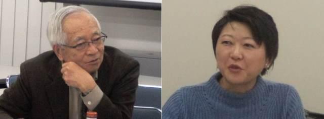 Professor Takeo UCHIDA and Ms. Kaoru NEMOTO