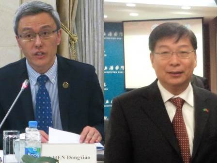 Dr. CHEN Dongxiao, President of Shanghai Institutes for International Studies and Mr. LIU Zhixian, Vice President of UN Association of China
