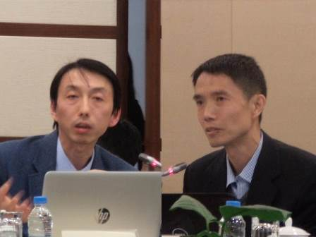 Professor XUE Lein, Shanghai Institute for Foreign Studies and Professor HE Yin, China Peacekeeping Police Training Center