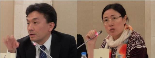 Professor Hideaki SHINODA, Tokyo University of Foreign Studies and Professor LIU Tiewa, Beijing Foreign Studies University