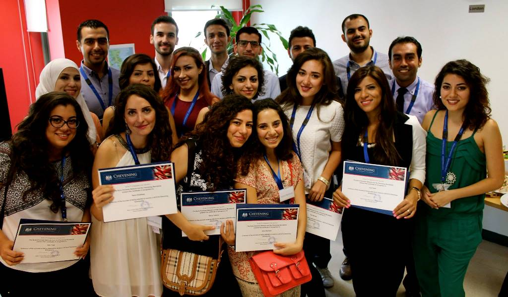 According to Gareth Bayley, UK Special Representative for Syria, in 2015, 37 Syrians have been selected as Chevening Scholars, from among a field of nearly 1000. These scholars now have the opportunity to study for a one-year Master's degree at any of the UK's leading universities, across a wide range of fields.(Source: http://blogs.fco.gov.uk/garethbayley/2015/09/16/a-better-future-for-syria-chevening-2015/)