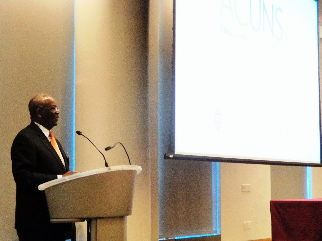Professor Ibrahim A. Gambari at the 2016 ACUNS Annual Meeting at Fordham University in New York on 17 June 2016