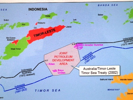 Map presented by the Timorese delegation. Source: www.pcacases.com/web/view/132