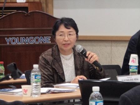Miki SUGIMURA, Vice President and Professor of Sophia University